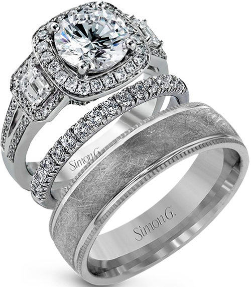 Choose engagement rings and wedding bands from fine jewelry designers such as Simon G., David Yurman, HL, Scott Kay, and Dinaro Creations